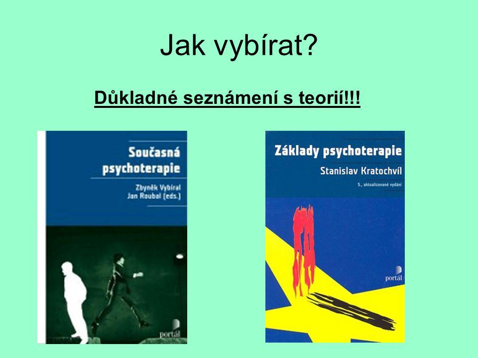 Jak vybírat Důkladné seznámení s teorií!!!