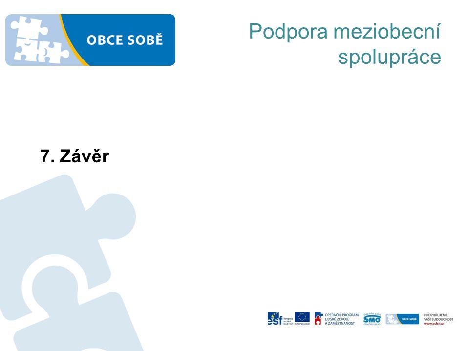 Podpora meziobecní spolupráce 7. Závěr