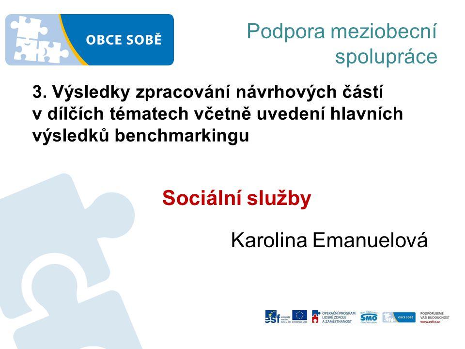 Podpora meziobecní spolupráce Sociální služby Karolina Emanuelová 3.