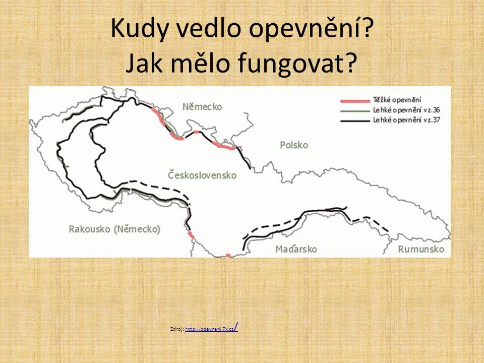 Kudy vedlo opevnění? Jak mělo fungovat? Zdroj: http://opevneni.7x.cz /http://opevneni.7x.cz /