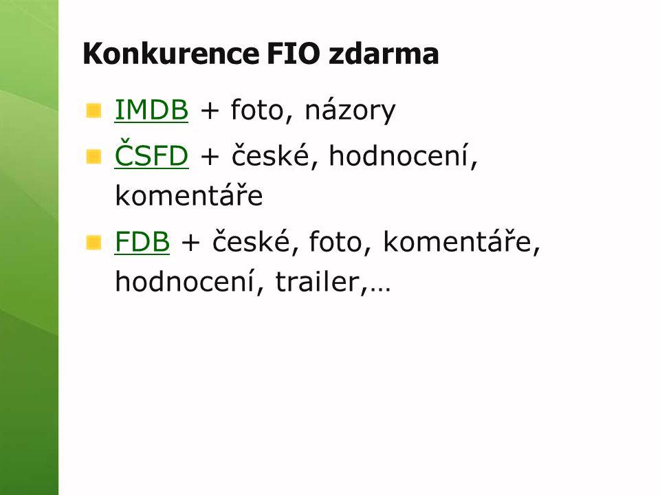 Konkurence FIO zdarma IMDBIMDB + foto, názory ČSFDČSFD + české, hodnocení, komentáře FDBFDB + české, foto, komentáře, hodnocení, trailer,…