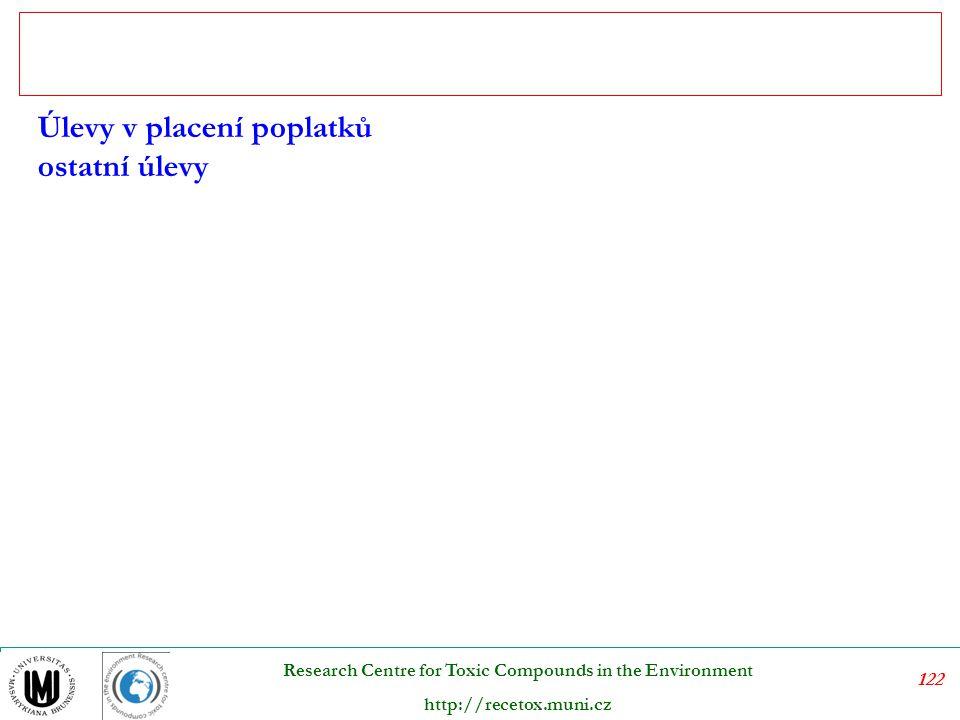 123 Research Centre for Toxic Compounds in the Environment http://recetox.muni.cz Depozitně refundační systém se vztahuje na výrobky, u kterých je možnost, že se stanou nebezpečným opadem.