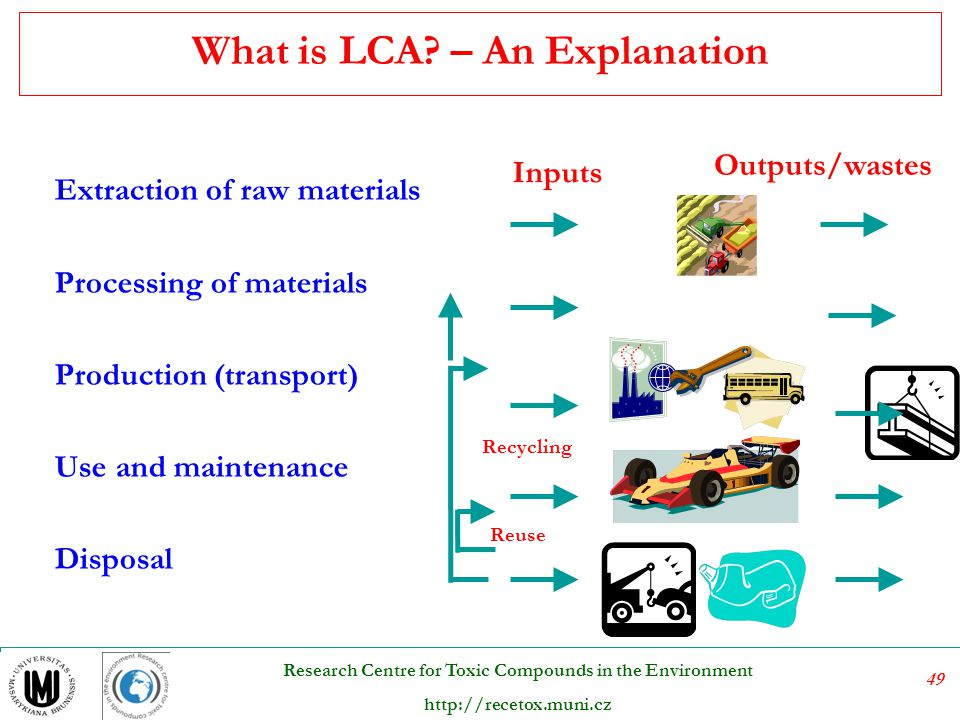50 Research Centre for Toxic Compounds in the Environment http://recetox.muni.cz General framework of LCA