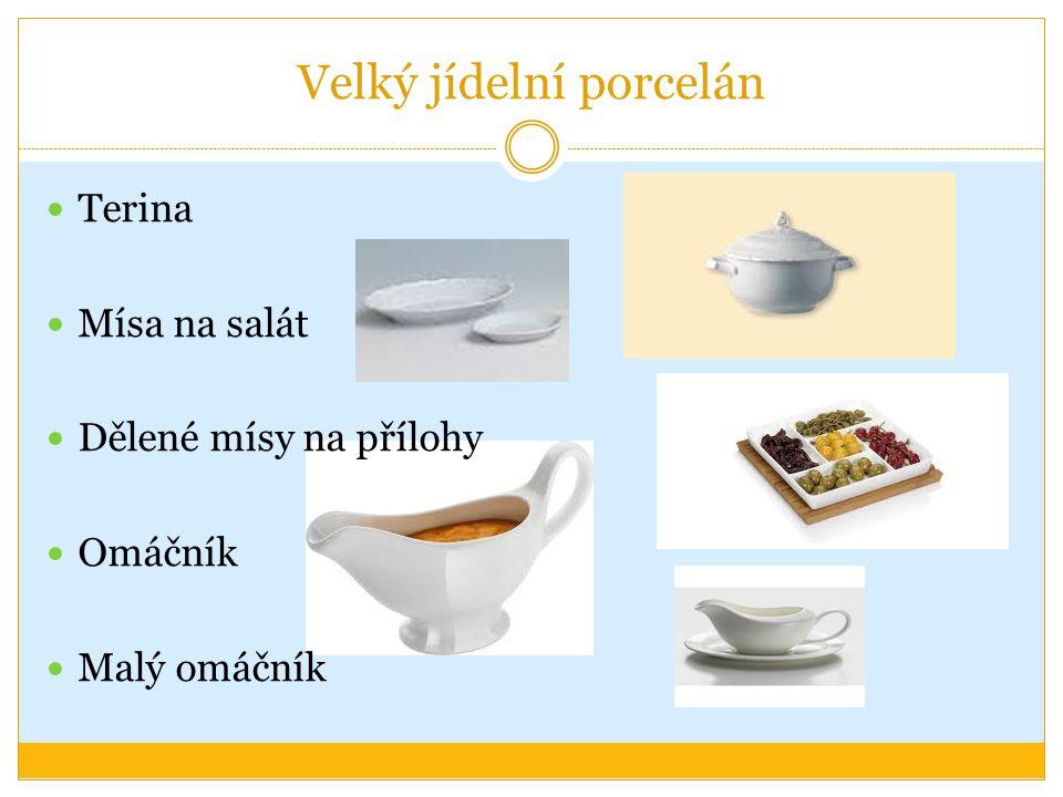 Kontrolní otázky Co obecně patří do porcelánového inventáře Jak můžeme tento inventář rozdělit Vyjmenujte talíře dle velikosti a použití Jaký další porcelánový inventář znáte