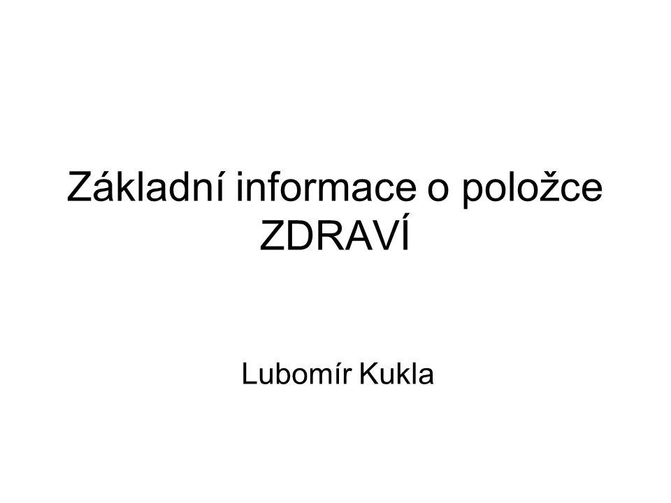 Základní informace o položce ZDRAVÍ Lubomír Kukla
