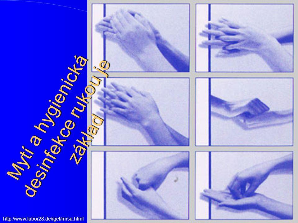 http://www.labor28.de/igel/mrsa.html Mytí a hygienická desinfekce rukou je základ
