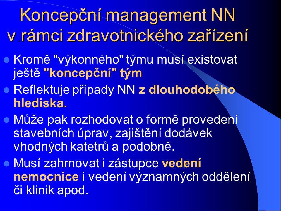 Koncepční management NN v.rámci zdravotnického zařízení Kromě