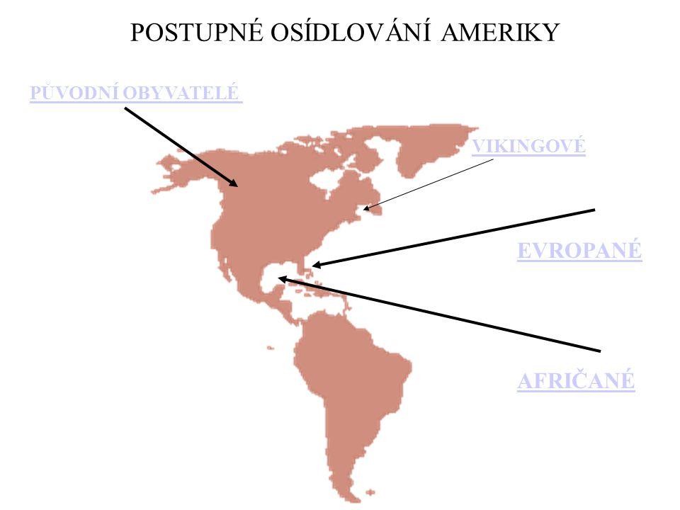 1)Rasy: -A)původní- žlutá – mongoloidní -(indiáni, eskymáci – z Asie ) -B)přistěhovalci - bílá – indoevropská - (z Evropy – Španělé, Portugalci, Angličané, Francouzi) -C)přivlečení –černá- negroidní - (z Afriky) - míšenci (zambo, mestik, mulat)