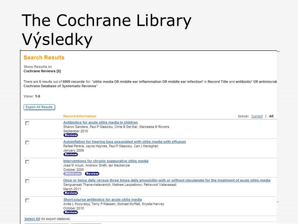 The Cochrane Library Výsledky 34
