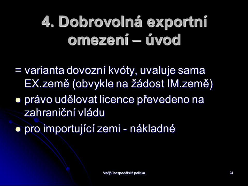 Vnější hospodářská politika24 4.