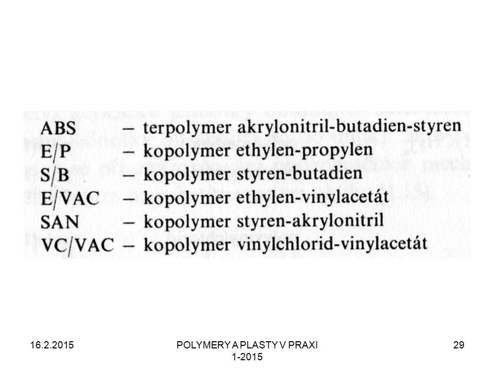 16.2.2015POLYMERY A PLASTY V PRAXI 1-2015 29