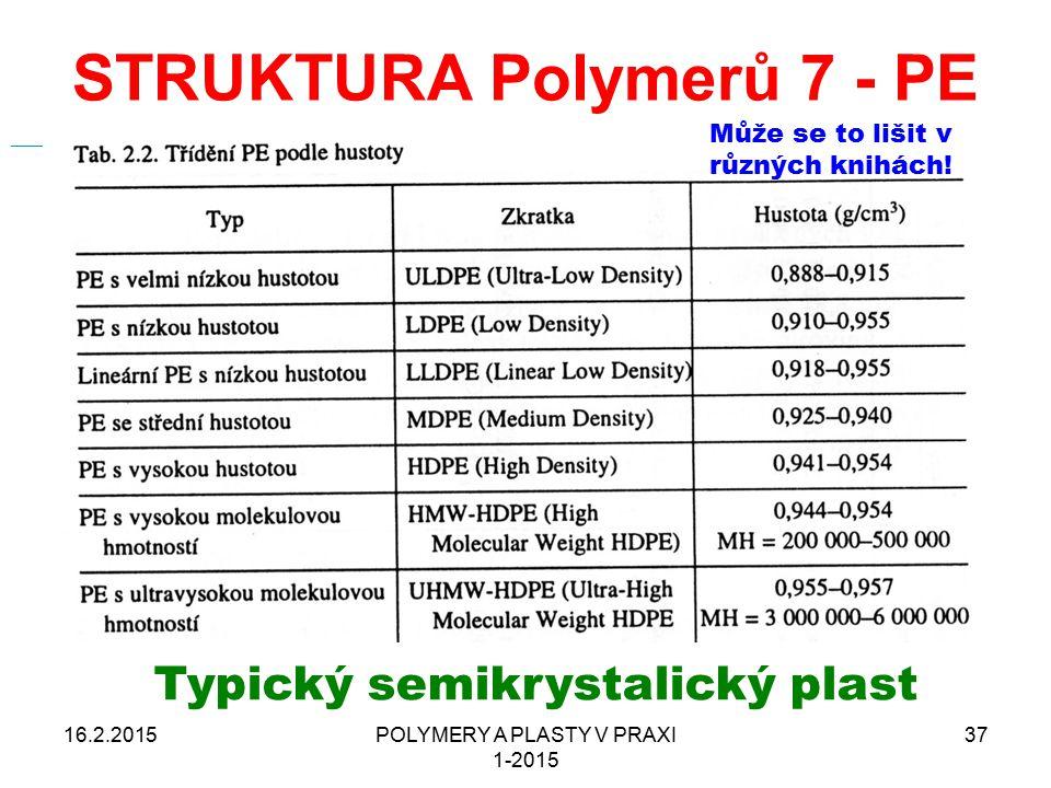 STRUKTURA Polymerů 7 - PE 16.2.2015POLYMERY A PLASTY V PRAXI 1-2015 37 From Wikipedia, the free encyclopedia Jump to: navigation, searchnavigationsear