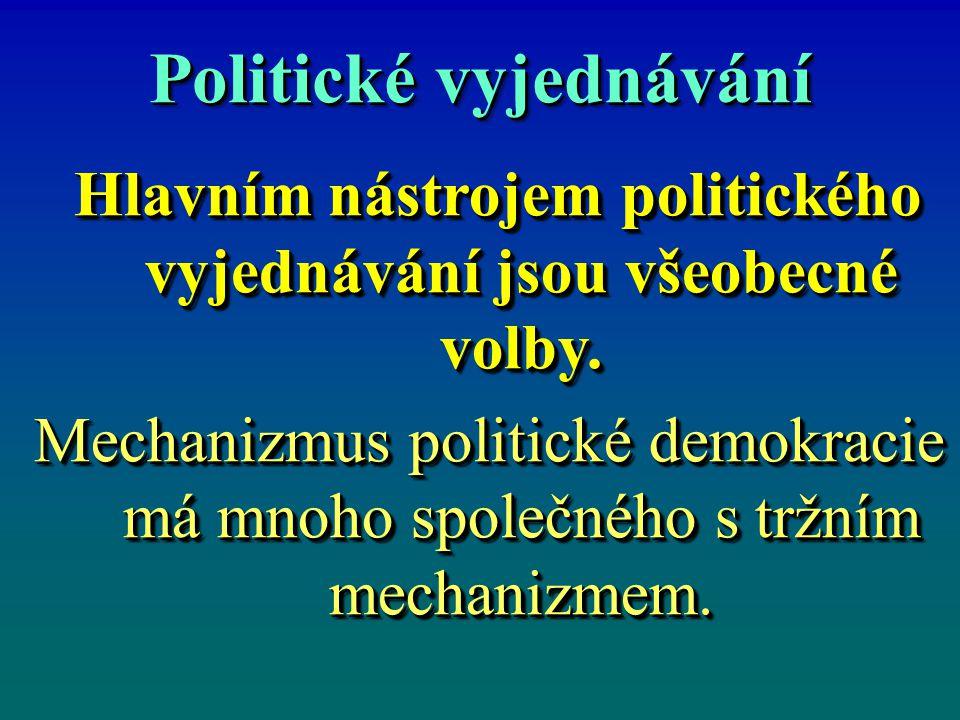 Politické vyjednávání Hlavním nástrojem politického vyjednávání jsou všeobecné volby. Hlavním nástrojem politického vyjednávání jsou všeobecné volby.