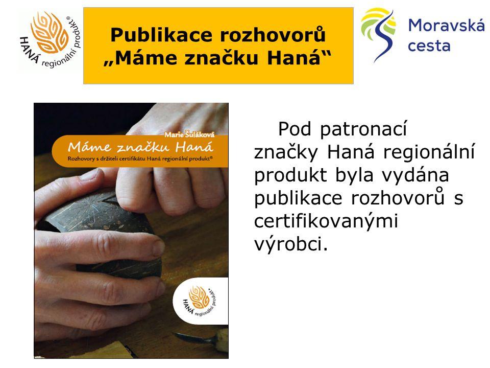 """Publikace rozhovorů """"Máme značku Haná"""" Pod patronací značky Haná regionální produkt byla vydána publikace rozhovorů s certifikovanými výrobci."""
