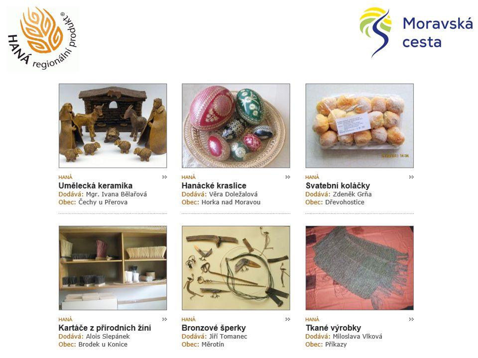 To pravé z Hané i odjinud … Prodejna regionálních potravin: Haná regionální produkt Moravská brána regionální produkt Jeseníky originální produkt