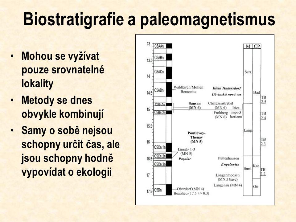 Datování nálezů – klíč k pochopení časové škály Relativní datování - biostratigrafie Relativní datování - paleomagnetismus Absolutní datování - uhlík