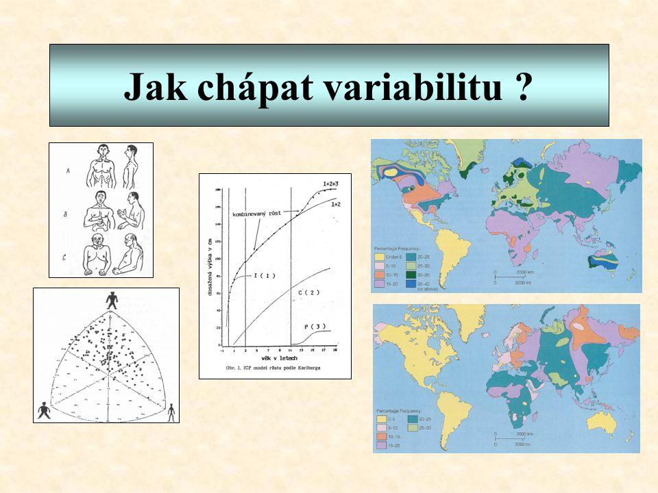 Jak chápat variabilitu ?