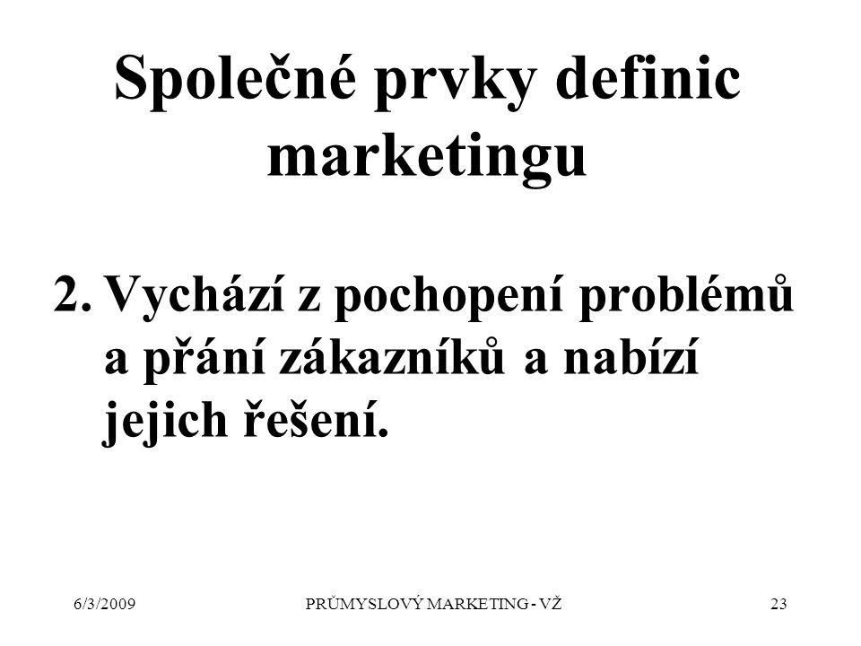 6/3/2009PRŮMYSLOVÝ MARKETING - VŽ23 2.Vychází z pochopení problémů a přání zákazníků a nabízí jejich řešení.