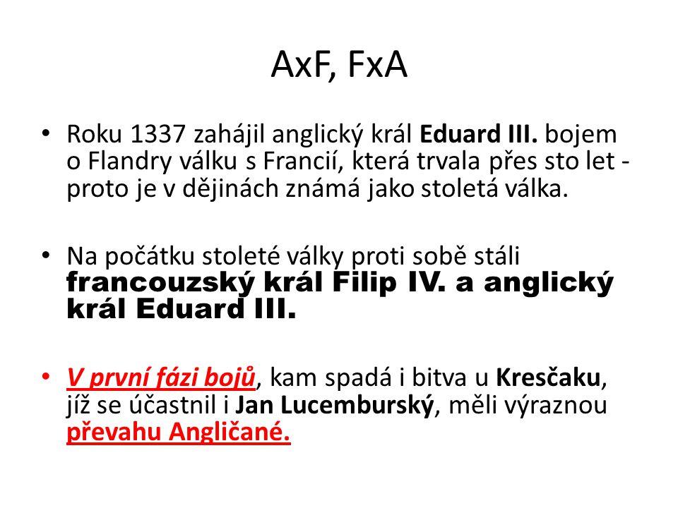 AxF, FxA Roku 1337 zahájil anglický král Eduard III.