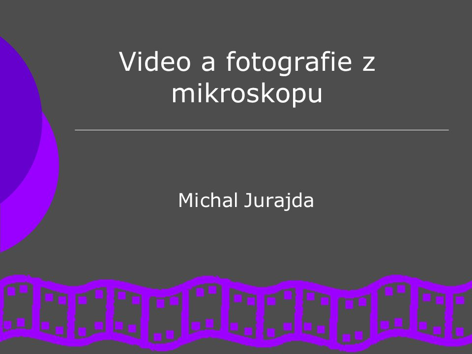 Video a fotografie z mikroskopu Michal Jurajda