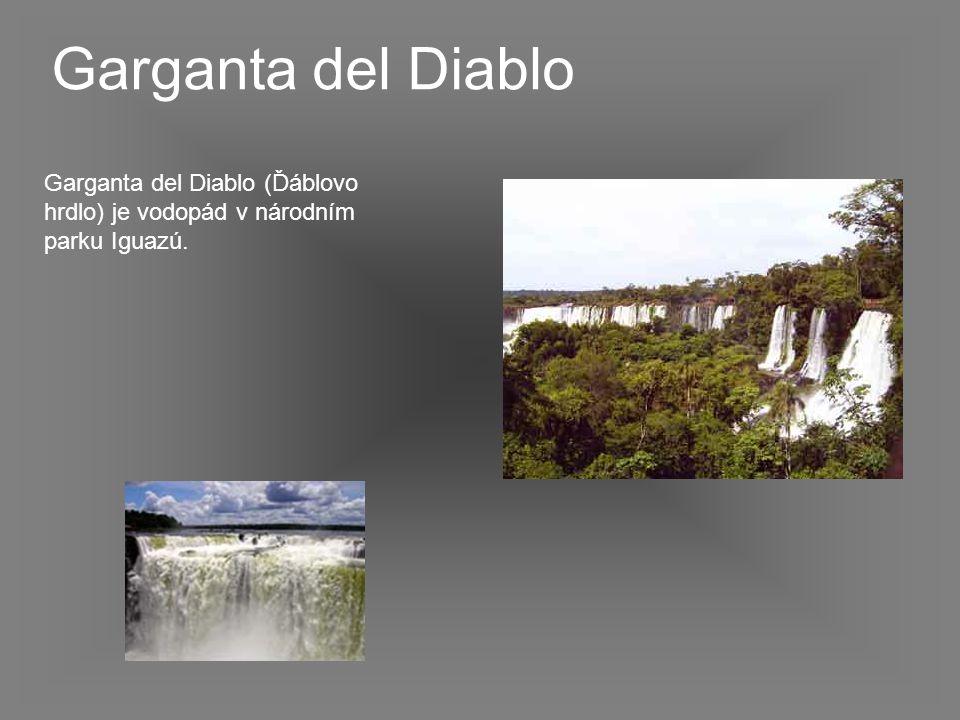 Garganta del Diablo (Ďáblovo hrdlo) je vodopád v národním parku Iguazú. Garganta del Diablo