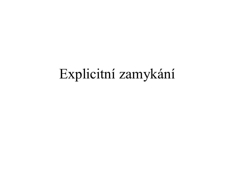 Explicitní zamykání