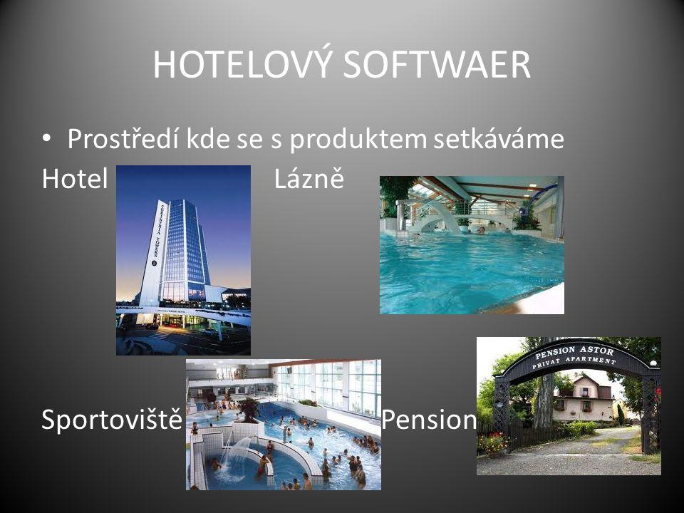 HOTELOVÝ SOFTWAER Prostředí kde se s produktem setkáváme Hotel Lázně Sportoviště Pension