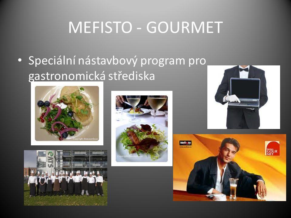MEFISTO - GOURMET Speciální nástavbový program pro gastronomická střediska