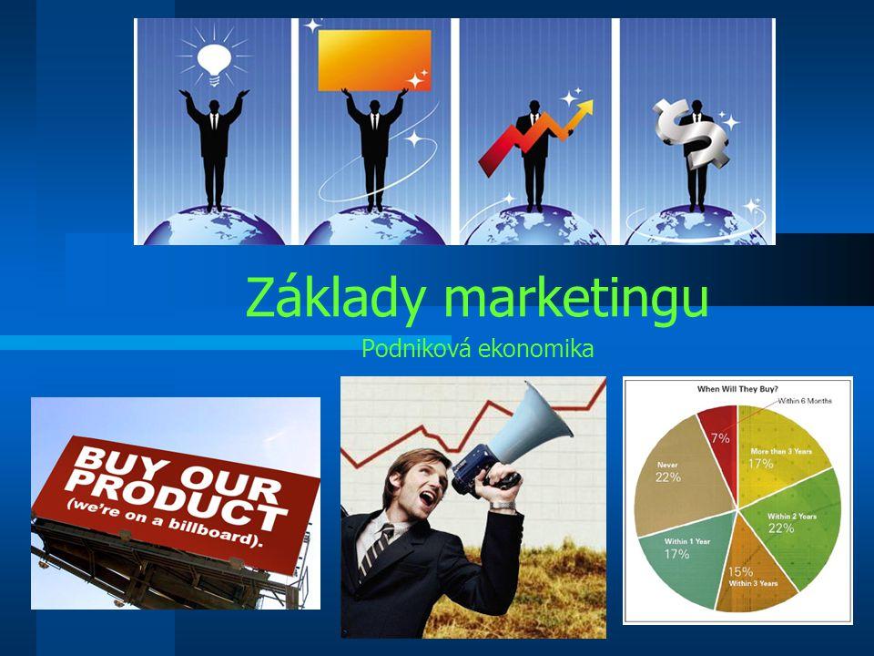 11.8.2015Podniková ekonomika Co je marketing.