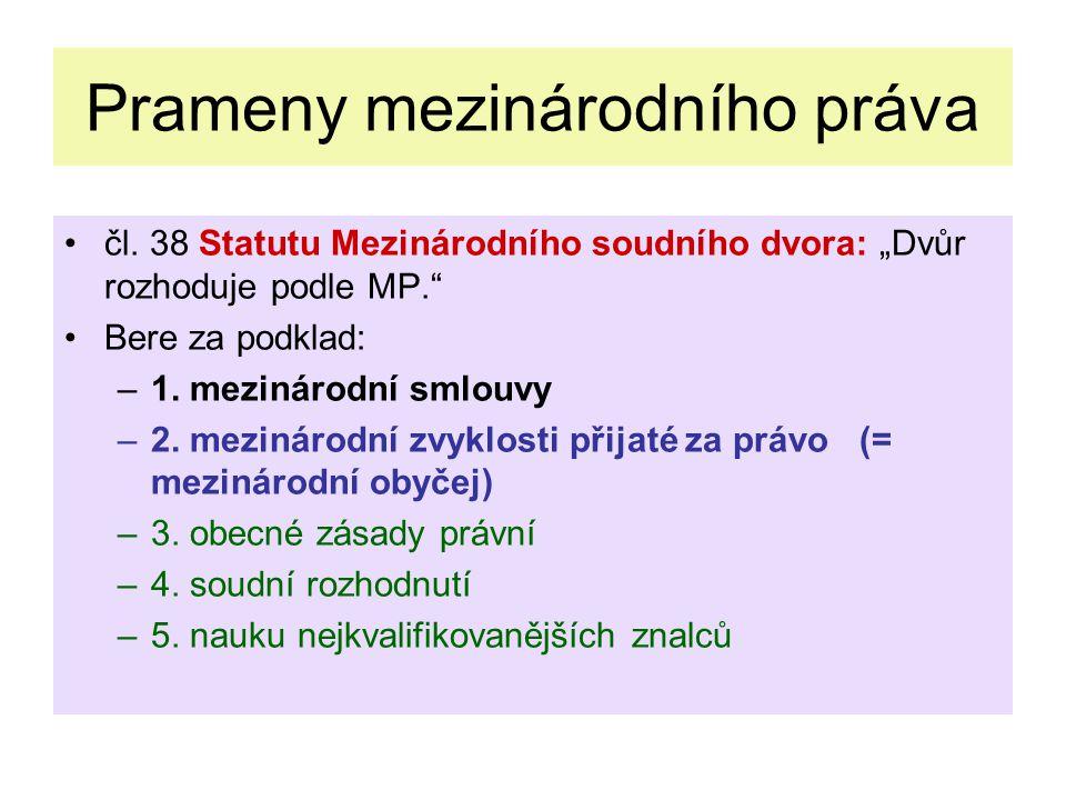 Prameny mezinárodního práva čl.