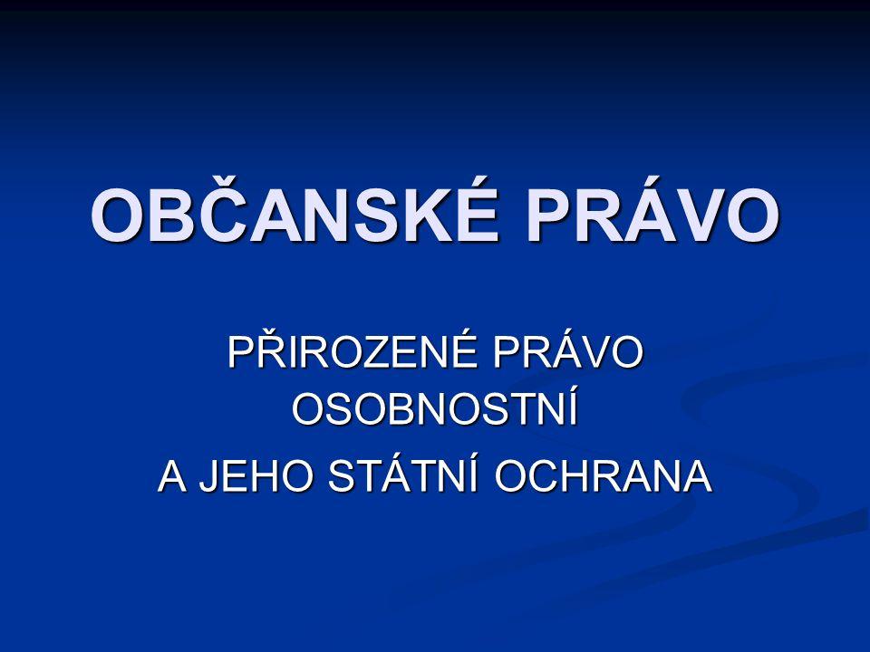 112 SOUKROMOPRÁVNÍ OCHRANNÉ REŽIMY Soukromoprávní ochrana Soukromoprávní ochrana 1.