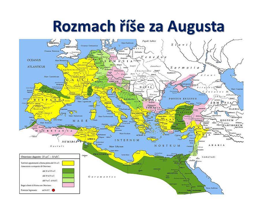 Rozmach říše za Augusta