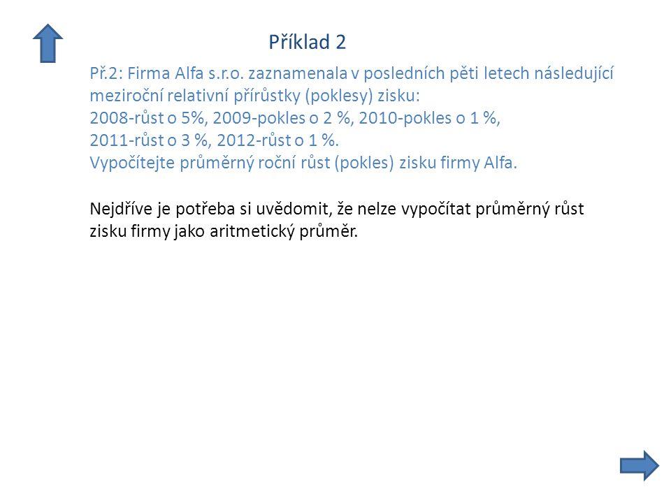Příklad 2 Př.2: Firma Alfa s.r.o.