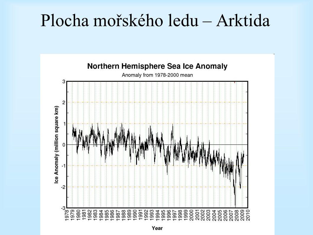 Plocha mořského ledu – Arktida