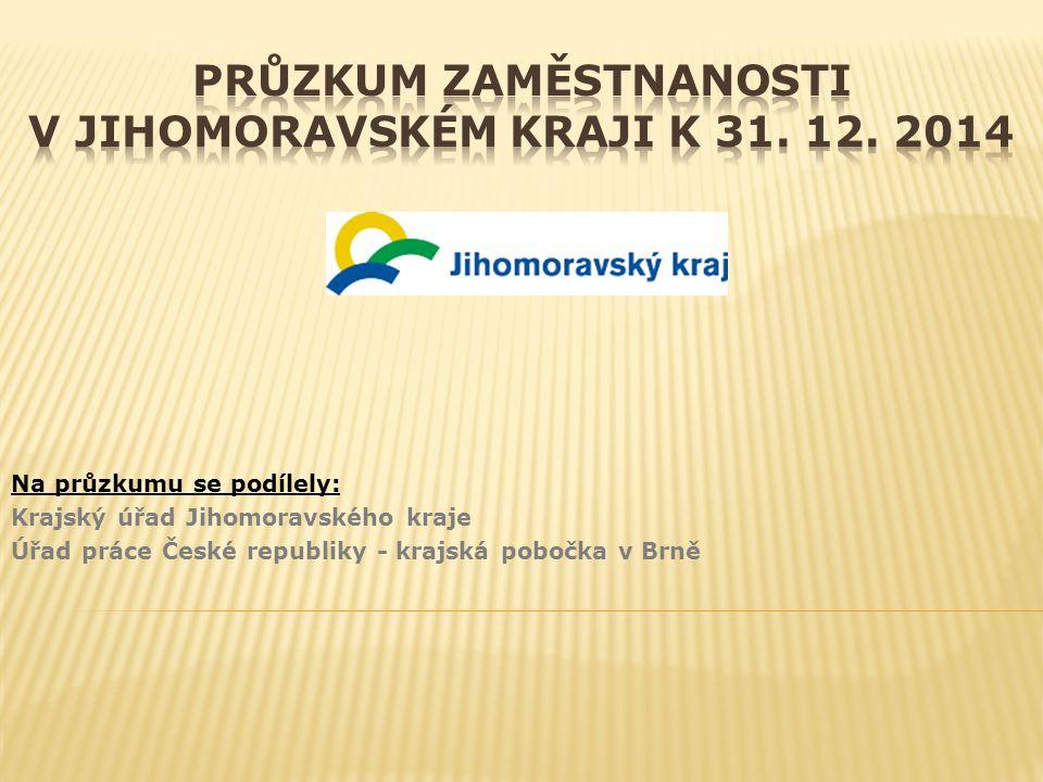 Na průzkumu se podílely: Krajský úřad Jihomoravského kraje Úřad práce České republiky - krajská pobočka v Brně
