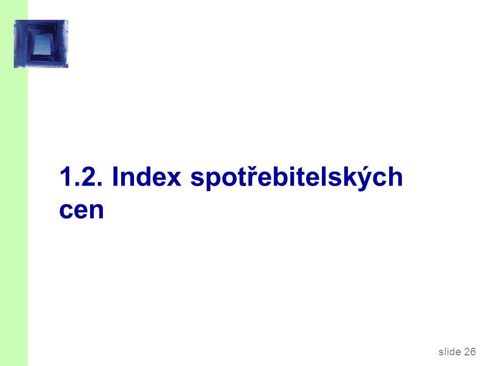 slide 26 1.2. Index spotřebitelských cen