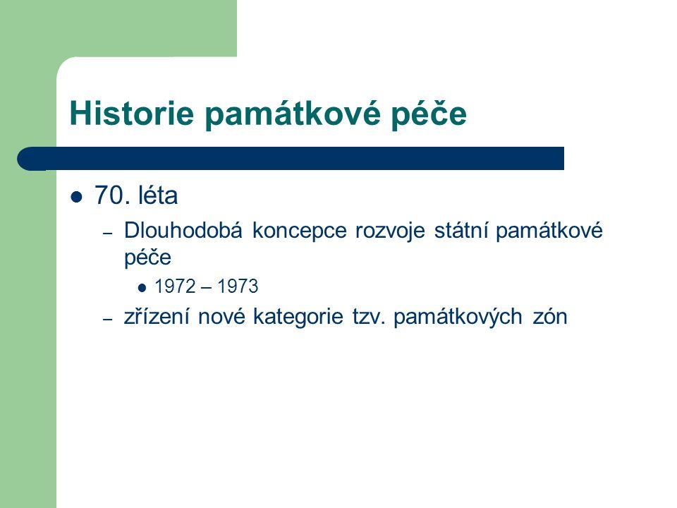 Historie památkové péče 70.