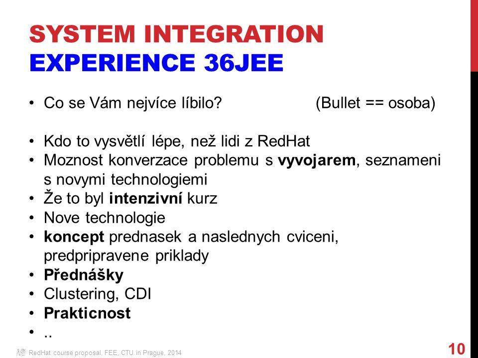 RedHat course proposal, FEE, CTU in Prague, 2014 10 Co se Vám nejvíce líbilo.