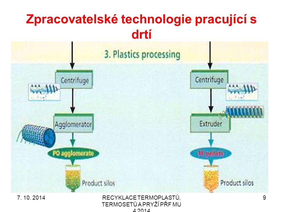 Filtrace taveniny je klíčová operace.RECYKLACE TERMOPLASTŮ, TERMOSETŮ A PRYŽÍ PŘF MU 4 2014 307.