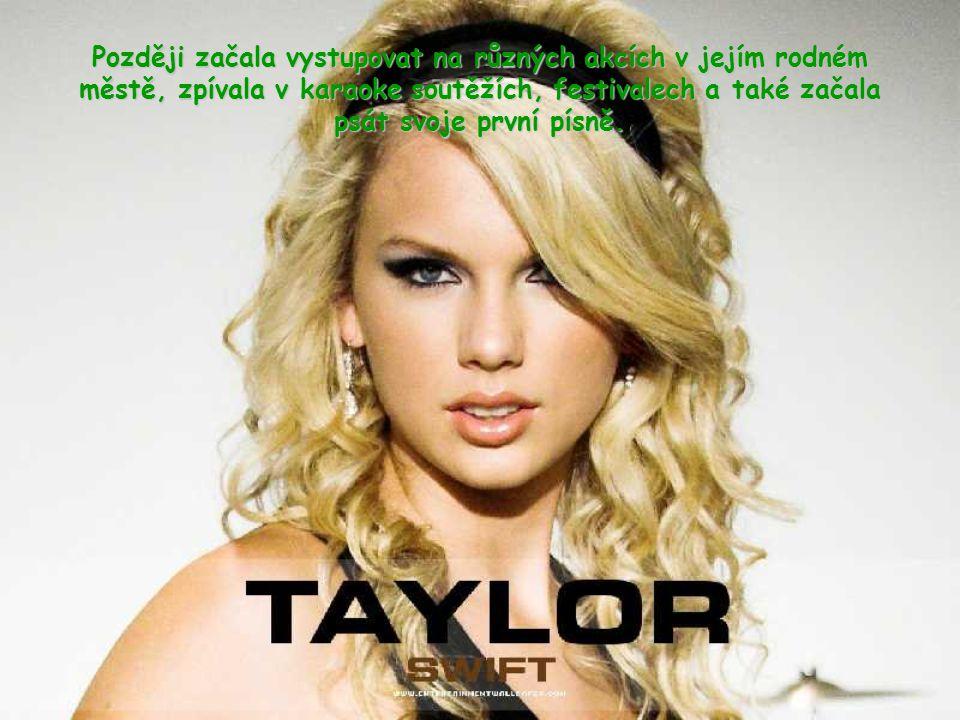 """Taylor vyhrála, v deseti letech, národní soutěž v poezii s tří stránkovou básní, která se jmenuje """"Monster in my closet""""."""