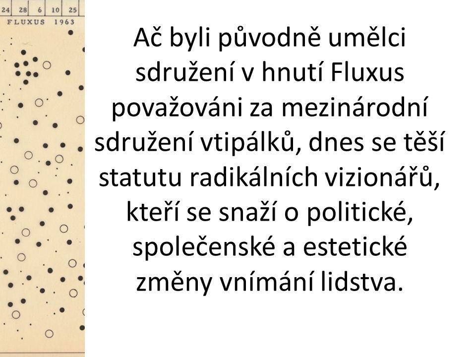 Ač byli původně umělci sdružení v hnutí Fluxus považováni za mezinárodní sdružení vtipálků, dnes se těší statutu radikálních vizionářů, kteří se snaží