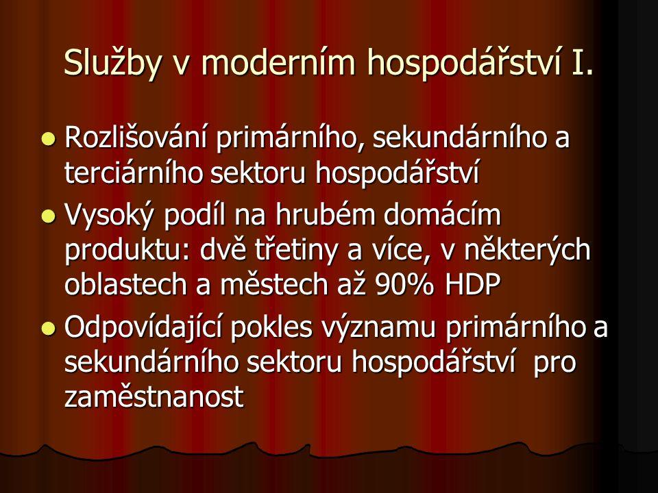 Služby v moderním hospodářství II.