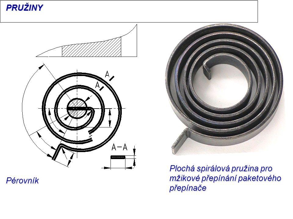 Pérovník Plochá spirálová pružina pro mžikové přepínání paketového přepínače PRUŽINY