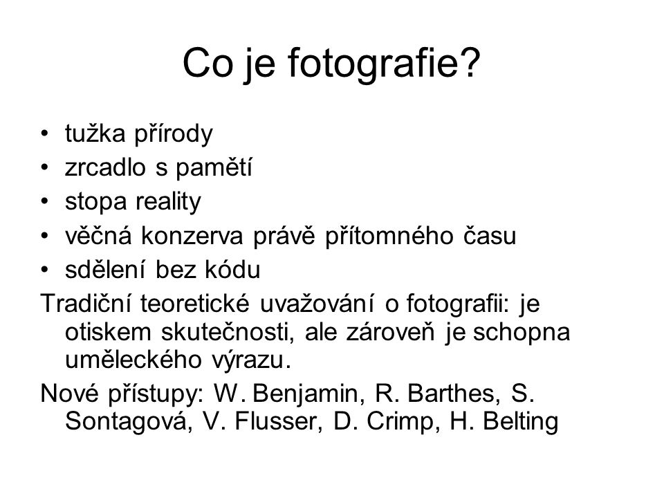 Co je fotografie.