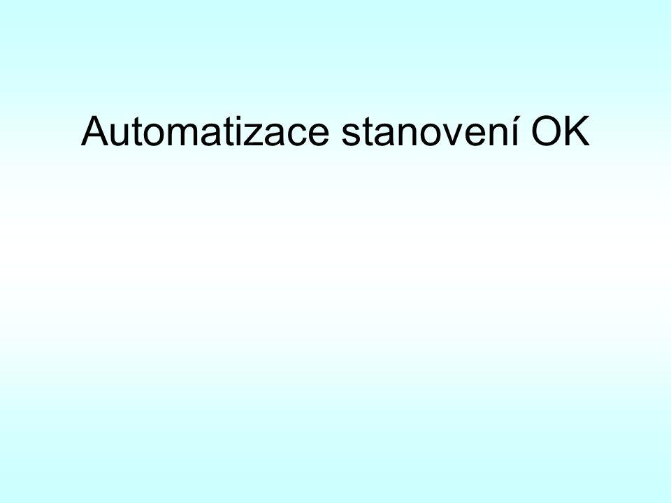 Automatizace stanovení OK