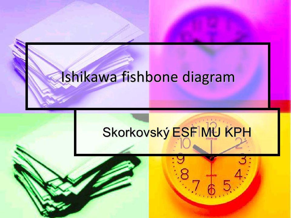 Ishikawa fishbone diagram Skorkovský ESF MU KPH