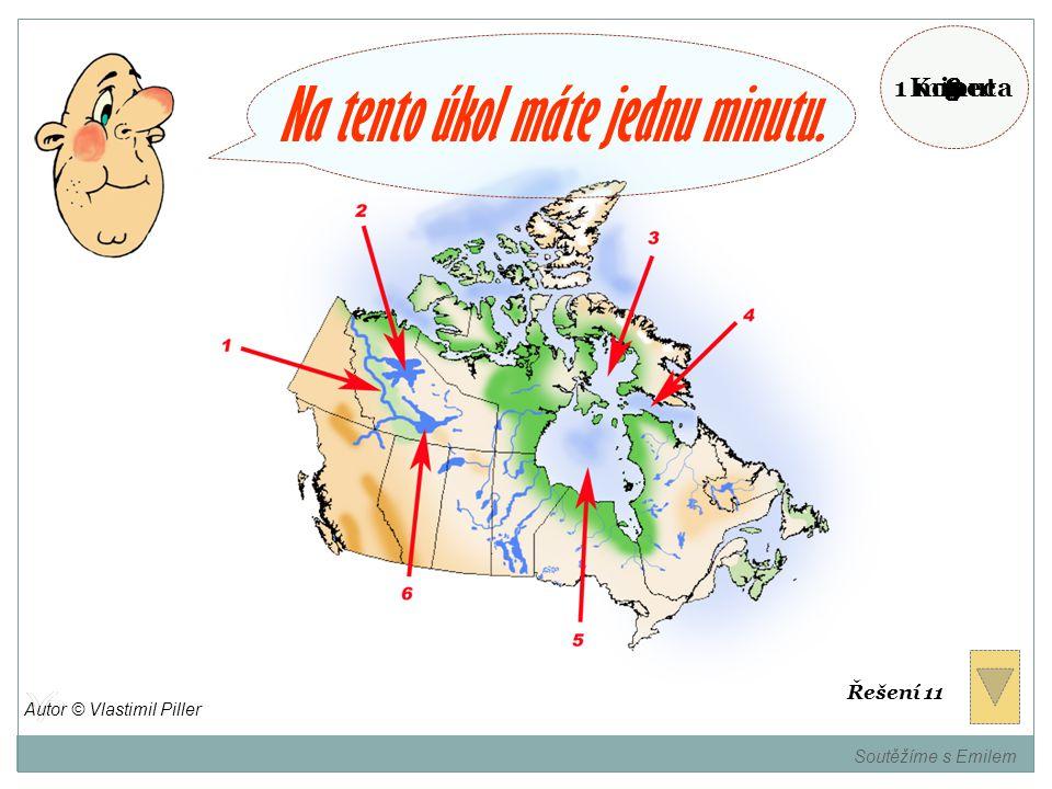 Pojmenujte místa označená na mapě. Soutěžíme s Emilem Autor © Vlastimil Piller