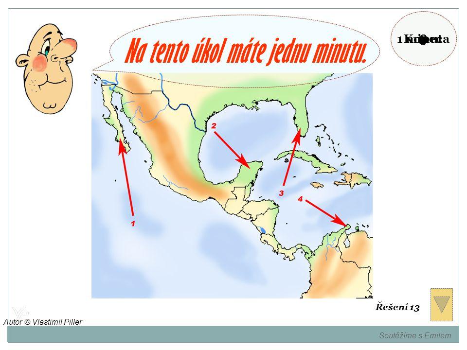Pojmenujte poloostrovy označené na mapě. Soutěžíme s Emilem Autor © Vlastimil Piller