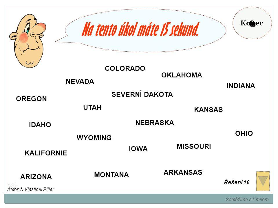 Zapamatujte si státy USA, které jsou v barvě vašeho týmu. Soutěžíme s Emilem Autor © Vlastimil Piller
