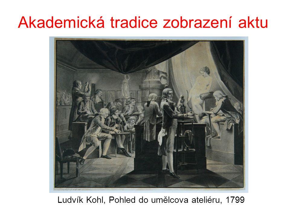 Akademická tradice zobrazení aktu Ludvík Kohl, Pohled do umělcova ateliéru, 1799